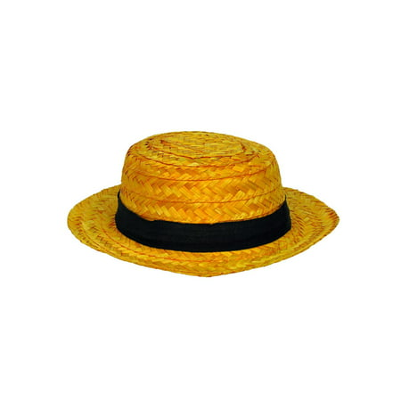 Adult Straw Roarin' 20's Skimmer Hat Halloween Costume - Hat Costumes For Adults