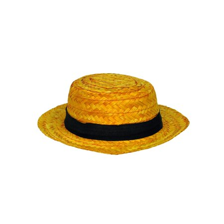 Adult Straw Roarin' 20's Skimmer Hat Halloween Costume Accessory