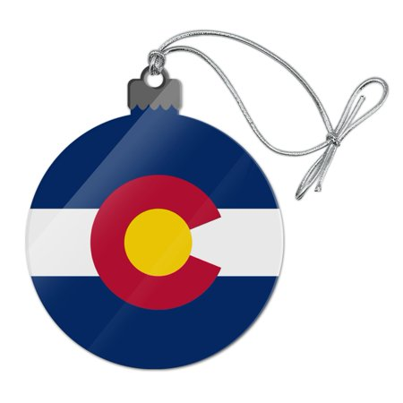 - Colorado State Flag Acrylic Christmas Tree Holiday Ornament