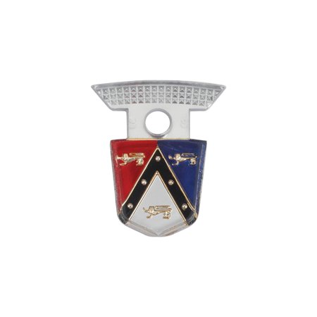MACs Auto Parts  49-33205 Rear Seat Center Moulding Emblem Insert - Plastic - Ford Crown Victoria - Ford Convertible - Ford Fairlane Ranch (Fairlane Center)