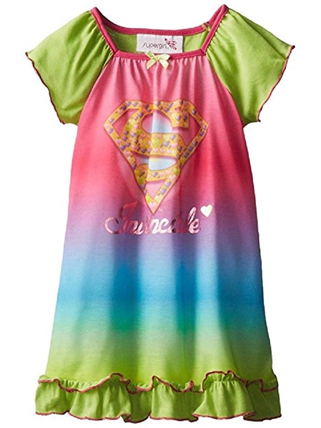 Toddler Girls Supergirl Invincible Nightgown Green