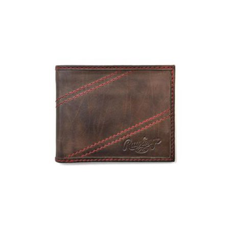 Rawlings Leather Travel Wallet (Rawlings Men's Two Strikes Bifold Wallet Brown OS)