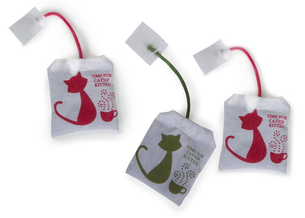 Catnip Cat Toys 3-Pack Tea Bag 3-Pack, Fast shipping,Brand Tenfly by