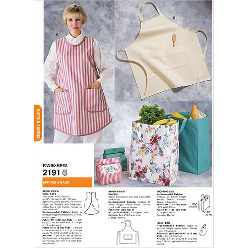 Kwik Sew Pattern Aprons and Bags