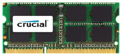 Crucial 8GB DDR3 SDRAM Memory Module - 8 GB (1 x 8 GB) - DDR3 SDRAM - 1600 MHz DDR3-1600/PC3-12800 - Non-ECC - Unbuffered - 204-pin SoDIMM