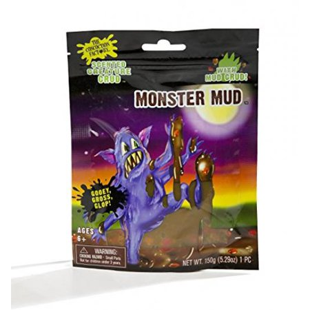 Fantasma Brown Monster Mud with Mud Crud – Slime Compound with Pieces - Halloween Monster Mud Run