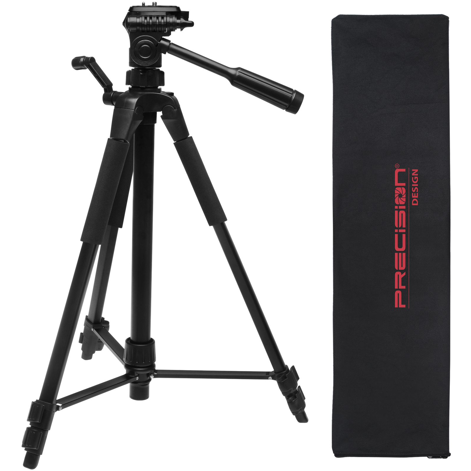 "Precision Design PD-58PVTR 58"" Photo/Video Tripod with Case"