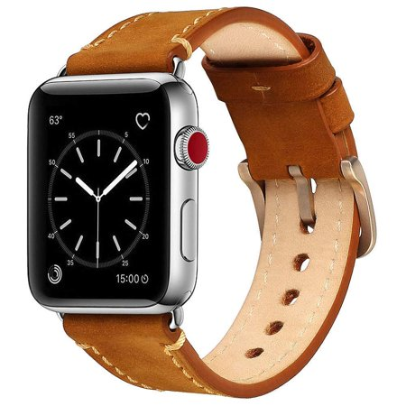 Compatible with Apple Watch Band 42mm 44mm Genuine Leather iWatch Bands Vintage Brown Compatible with Apple Watch Band 42mm 44mm Genuine Leather iWatch Bands Vintage Brown