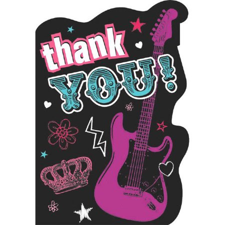 Princess Rocker Thank You Note Set w/ Envelopes (Princess Note)