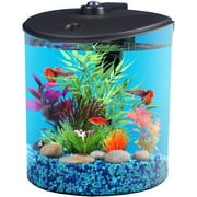 Hawkeye 1.5 gal 180` View Aquarium Kit with LED Light and Power Filter