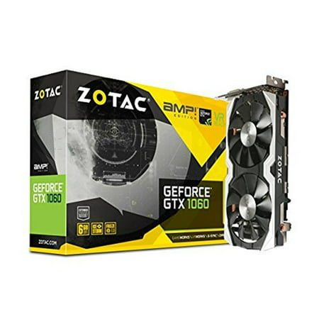 (ZOTAC NVIDIA GeForce GTX 1060 AMP! Edition 6GB GDDR5 DVI/HDMI/3DisplayPort PCI-Express Video Card)