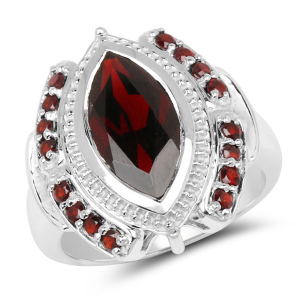 Bonyak Jewelry Sterling Silver Garnet Youth Ring Size 3