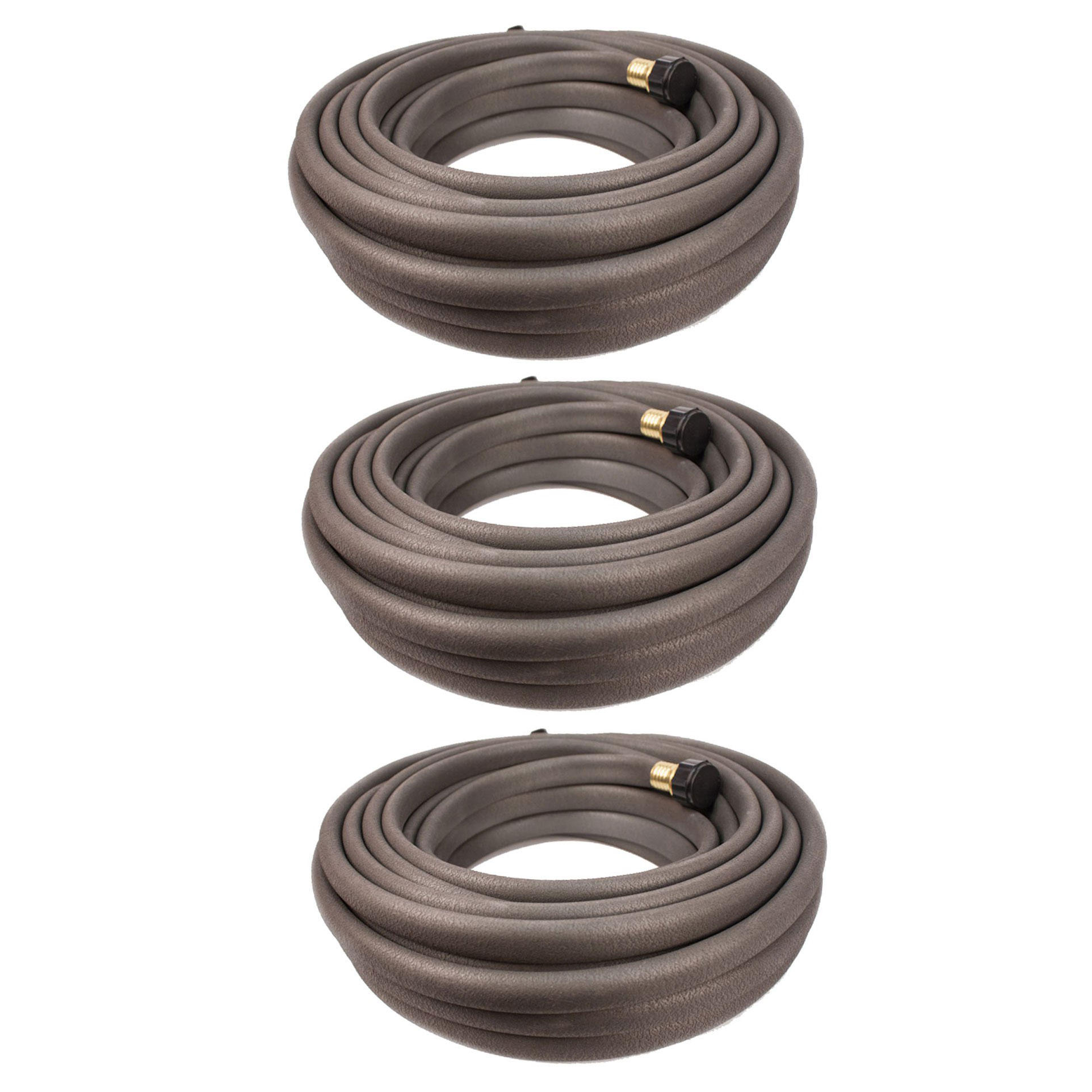 Apex 50 Foot Flexible Water Conservation Garden Soil & Root Soaker Hose (3 Pack)