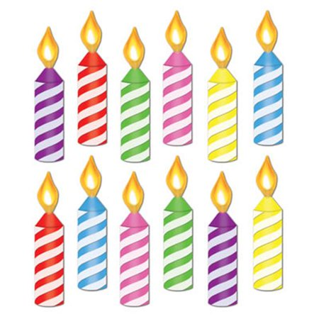 Beistle 54173 Mini Birthday Candle Cutouts Pack Of 24