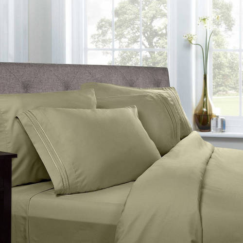 1500 Thread Count Egyptian Quality Microfiber Deep Pocket Bedroom Sheet Set