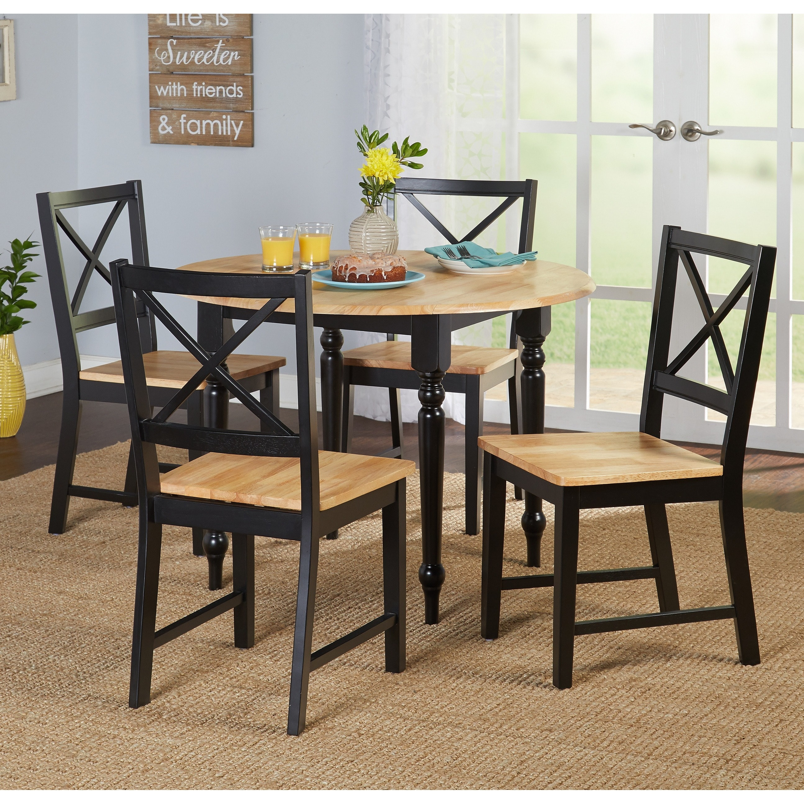 Virginia 5-Piece Dining Room Set, Multiple Colors by