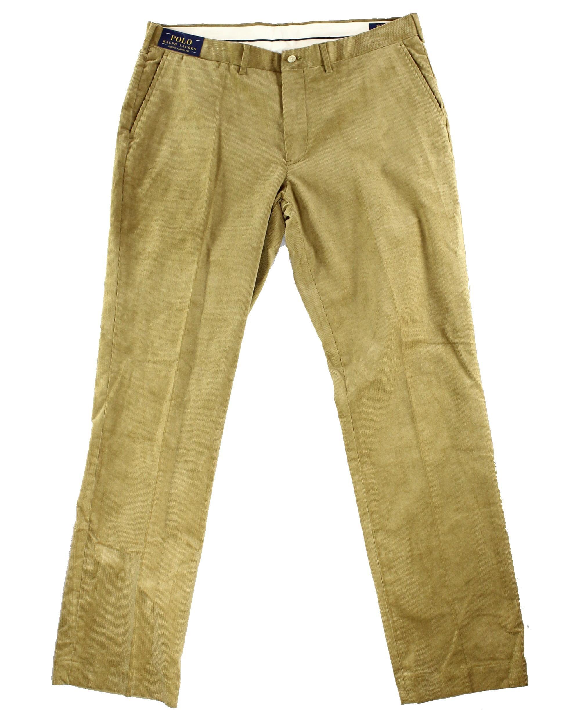 Polo Ralph Lauren NEW Beige Mens 34X34 Stretch Classic Corduroys Pants