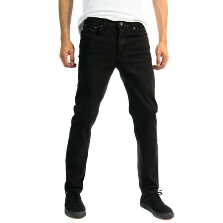 Blue Jeans Clothes - Alta Designer Fashion Mens Slim Fit Skinny Denim Jeans - Multiple Colors & Sizes