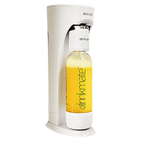 DrinkMate Sparkling Water and Drink Maker without CO2 Cylinder, White