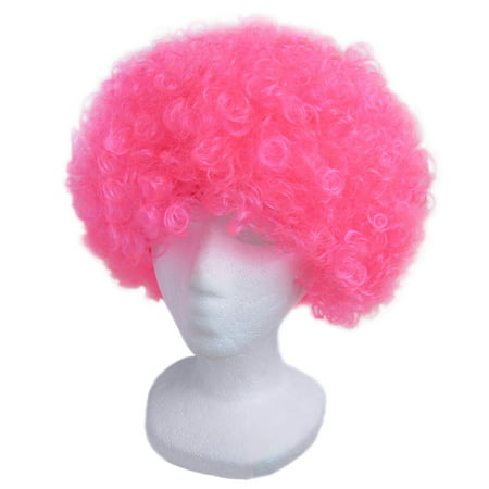 SeasonsTrading Economy Pink Afro Wig - Halloween Costume Party Wig for $<!---->