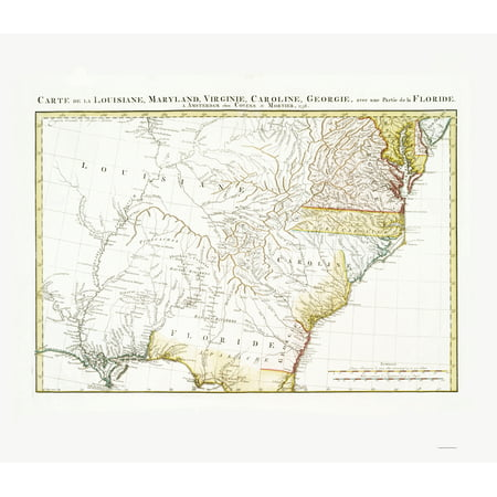 Old State Map - Eastern United States - Covens and Mortier 1758 - 23 x 26.57