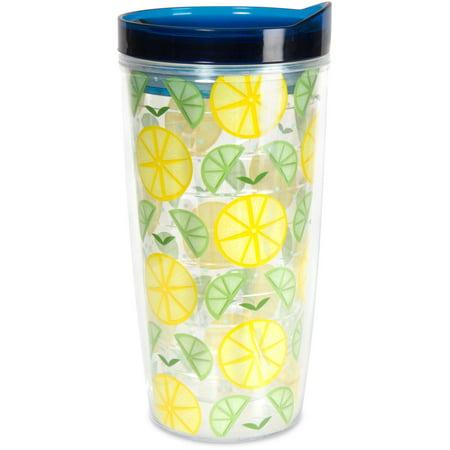 Pavilion - Limes or Lemons Patterned Twist Top Tumbler