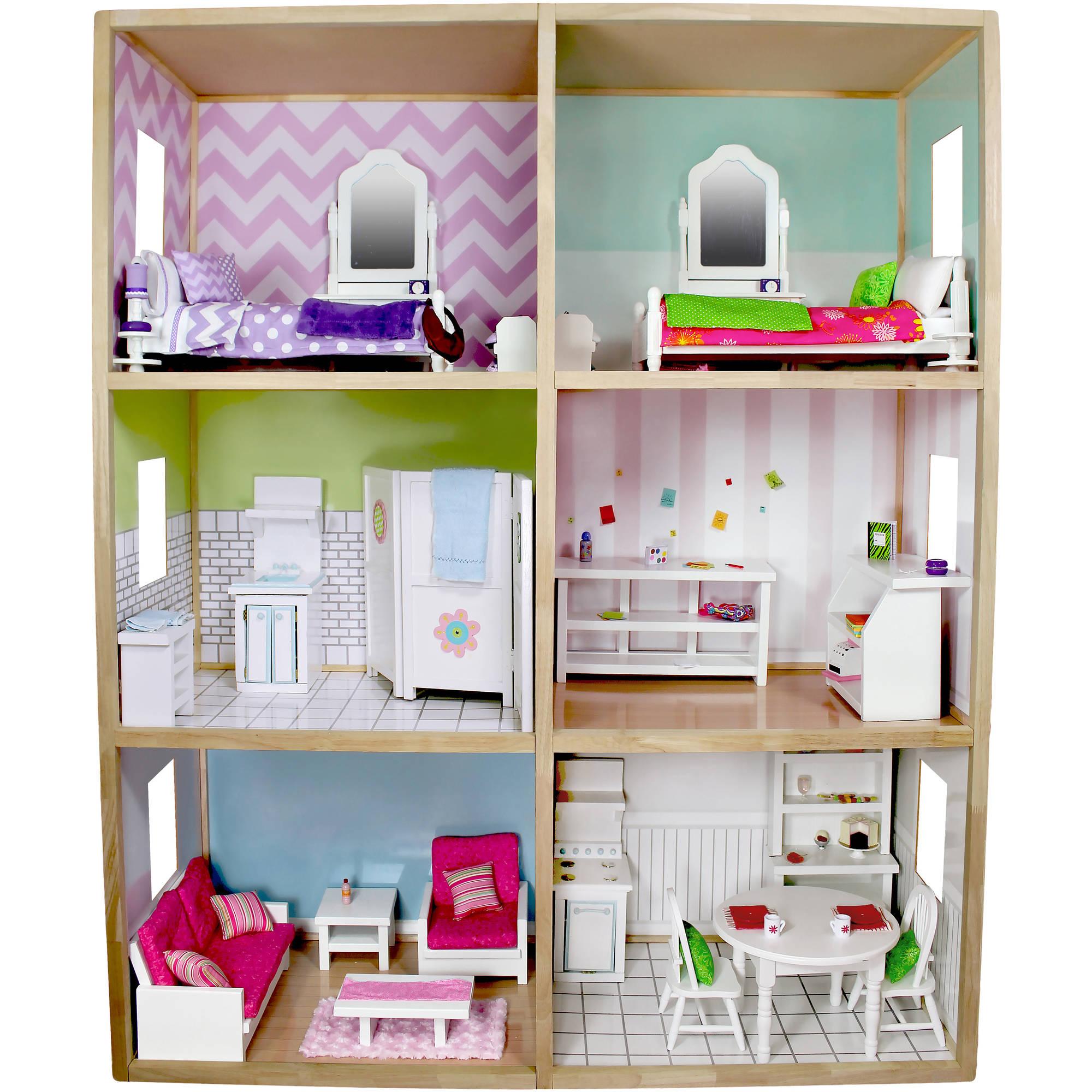 "My Girl's Dollhouse for 18"" Dolls, Modern Style"