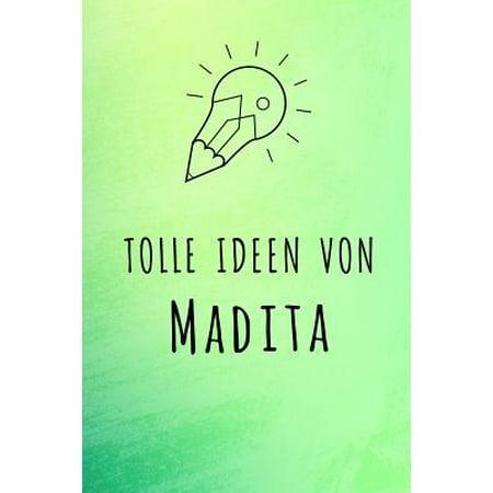 Tolle Ideen von Madita: Unliniertes Notizbuch mit Rahmen f�r deinen Vornamen Paperback (- Brillen-optische Rahmen)