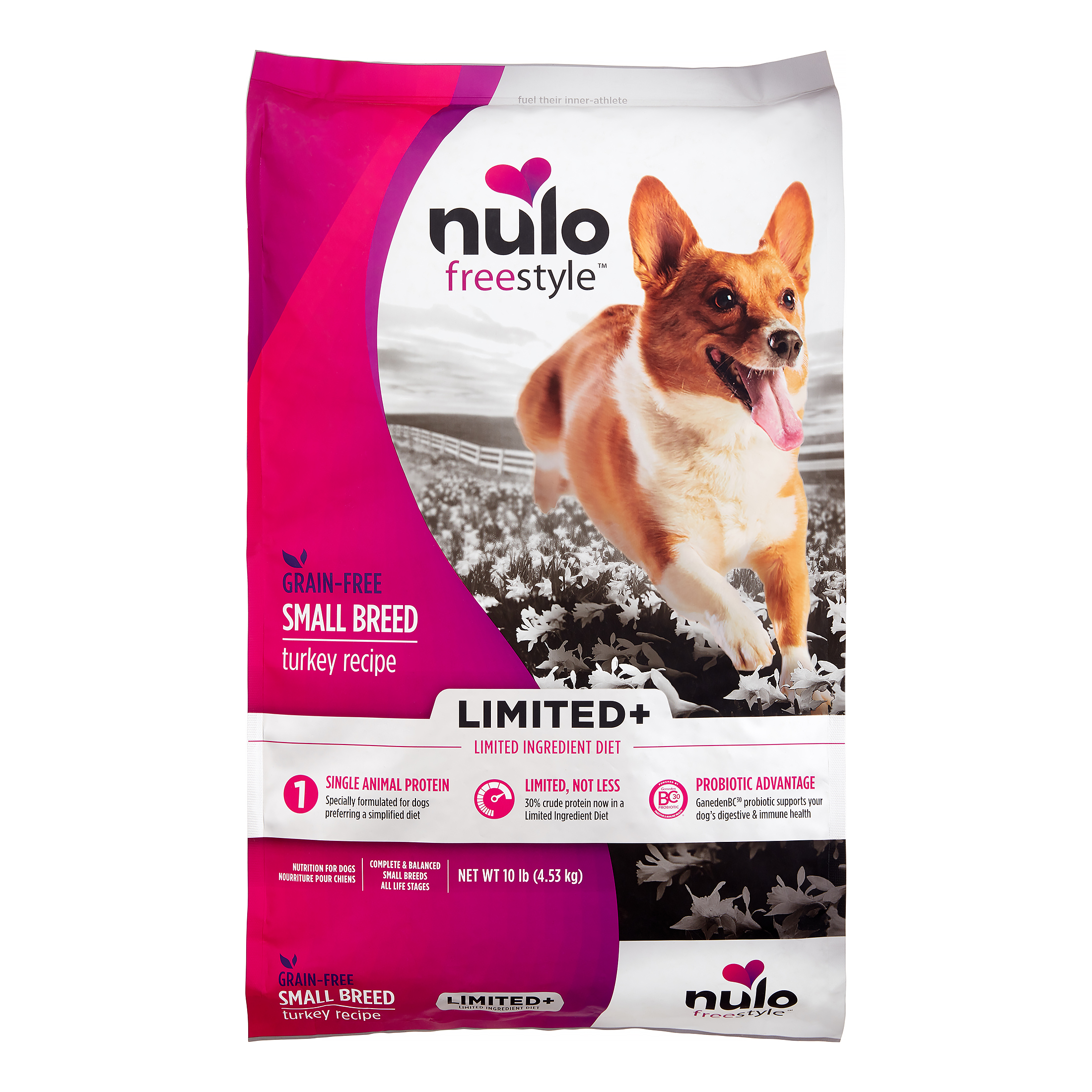 Nulo FreeStyle Grain-Free Limited Ingredient Diet Turkey Small Breed Dry Dog Food, 10 Lb