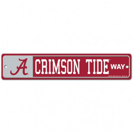 Alabama Crimson Tide Official Ncaa 4 Inch X 17 Inch  Plastic Street Sign By Wincraft