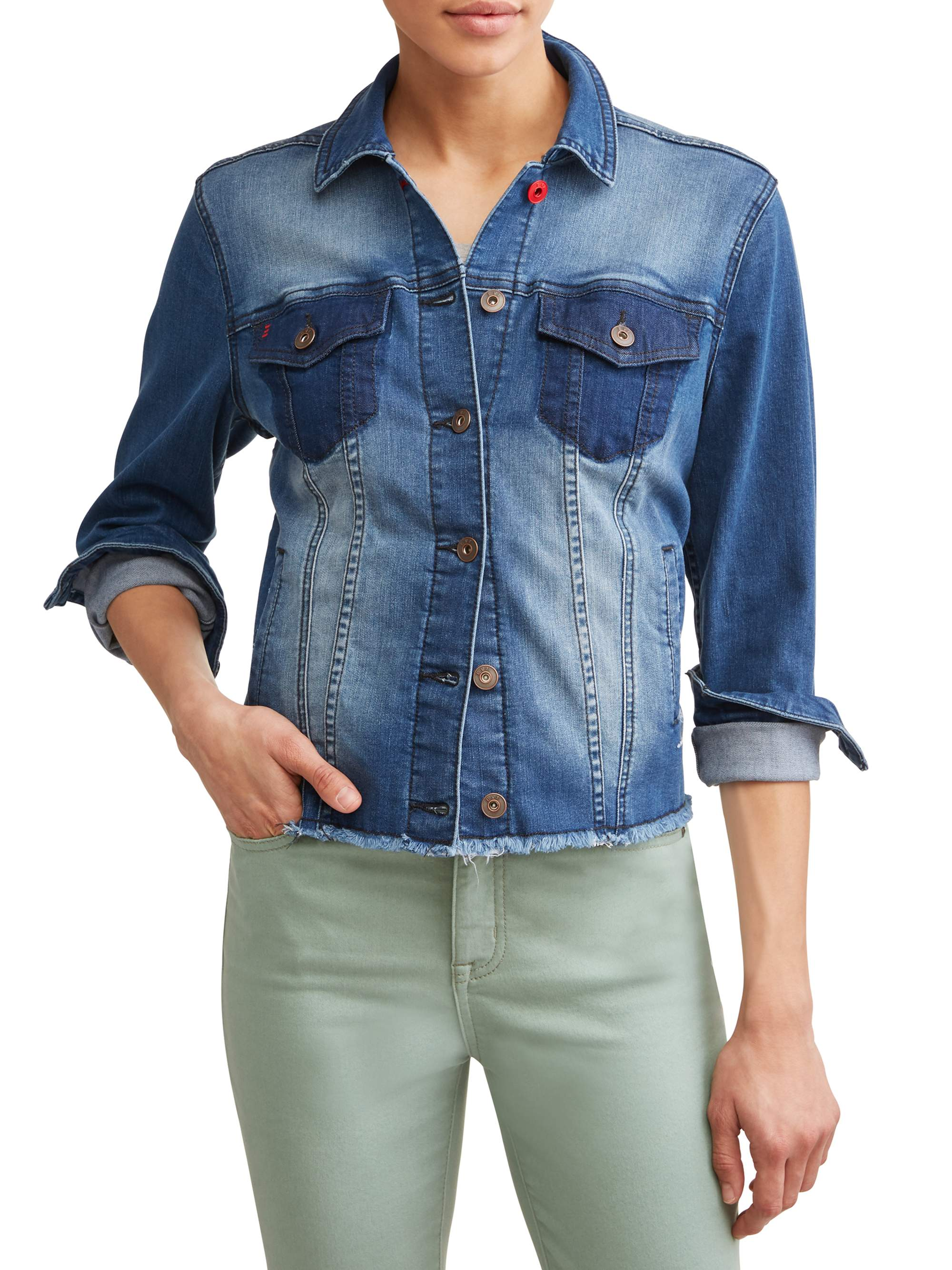 Patchwork Denim Jacket Women's (Medium)