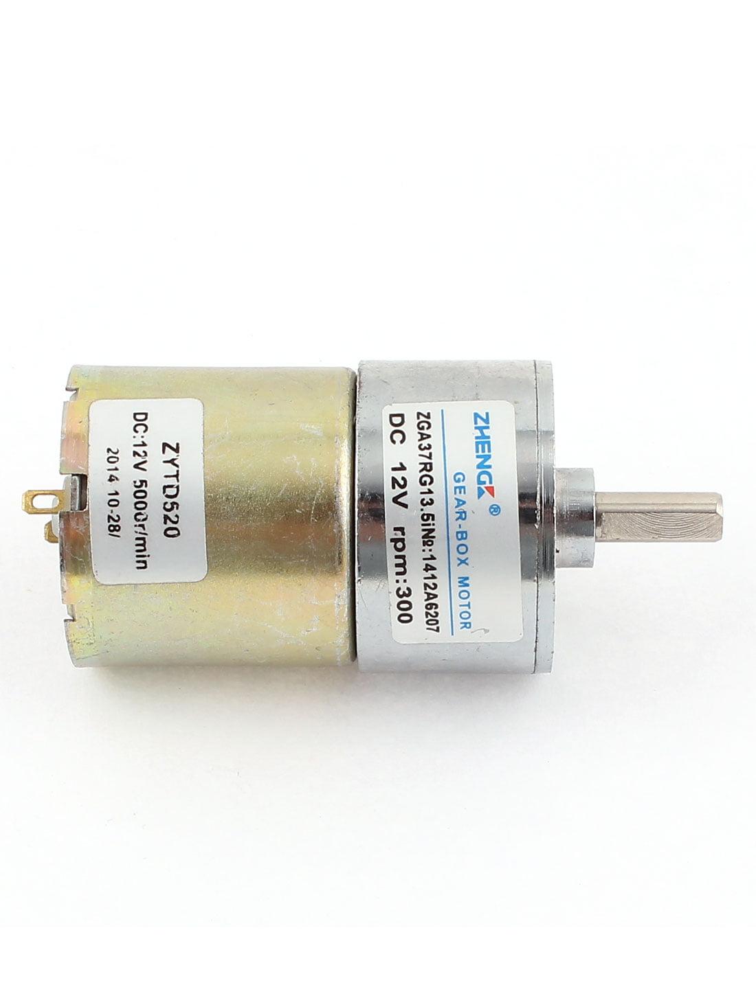 300 rpm 6 mm Shaft High Torque Gear-Box Electric Motor DC 12V