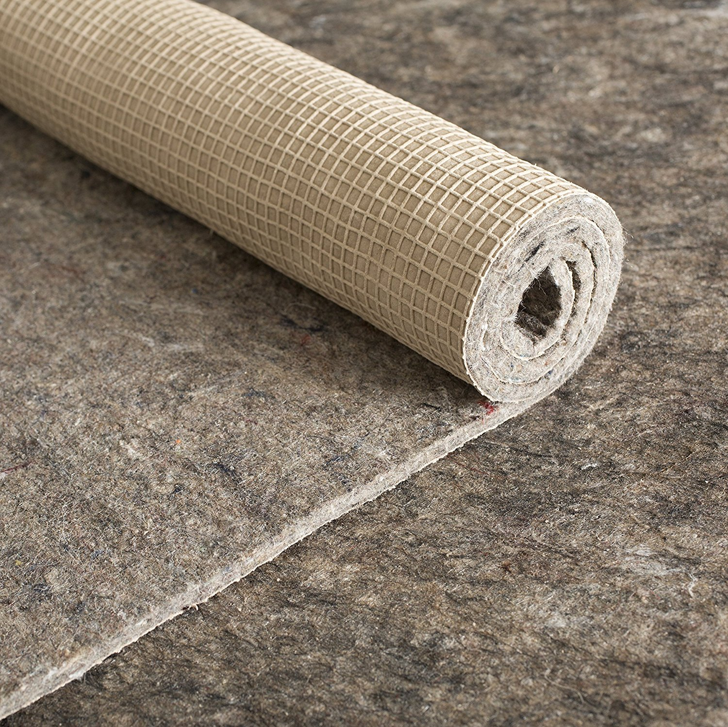 Anchor Grip 15, 1/8' Thick, Felt & Reinforced Natural Rubber Rug Pad, 2' x 4'
