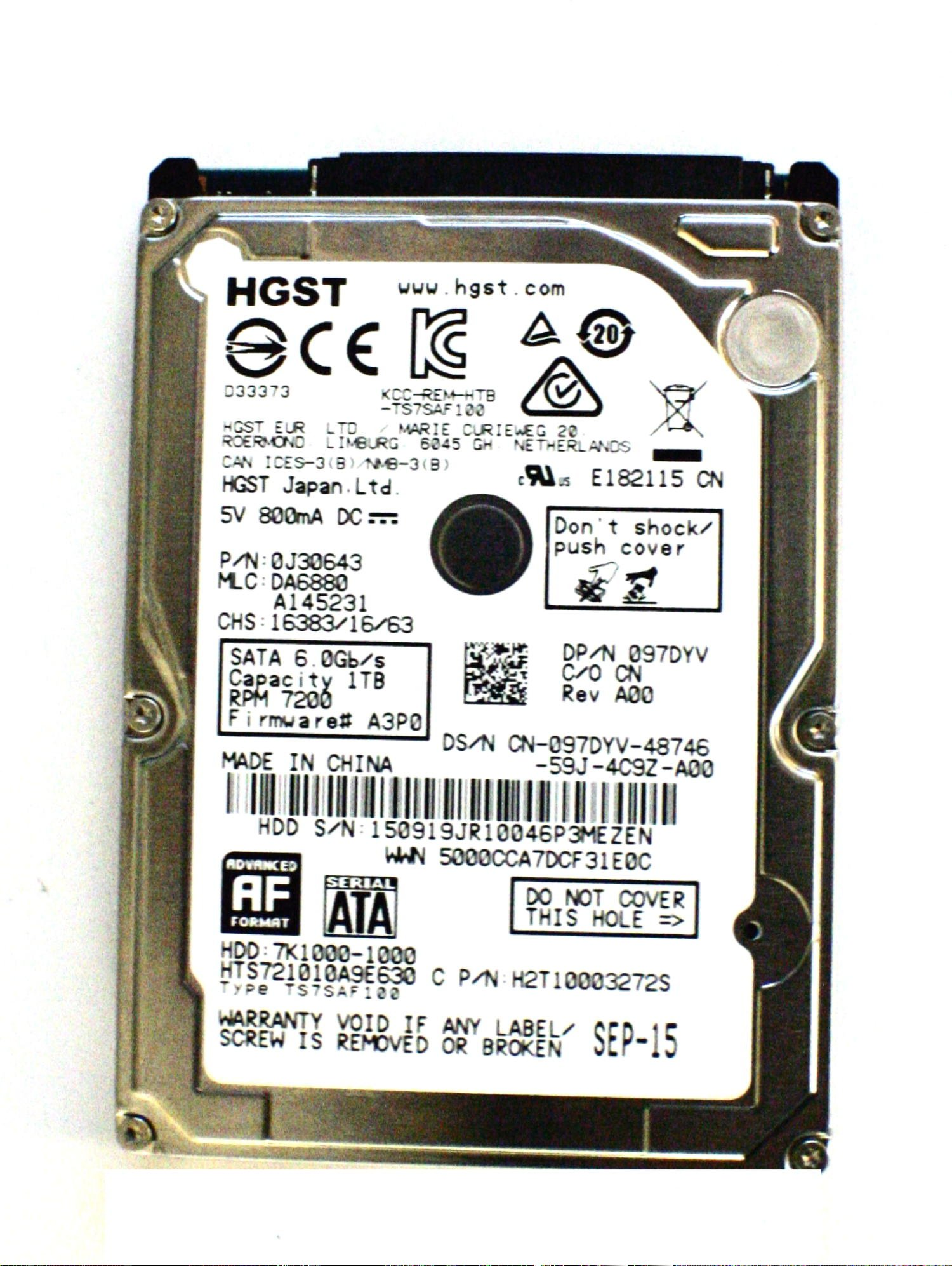 Original Dell Alienware 15 R2 17 R3 Laptop Hard Drive Hgst 97dyv 1tb 2 5 Sata 6 0gb S 7200 Rpm Walmart Com Walmart Com