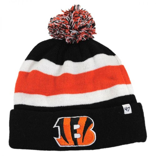 47 Brand Mens Cincinnati Bengals Breakaway Cuff Knit Beanie Hat Black One Size by Generic