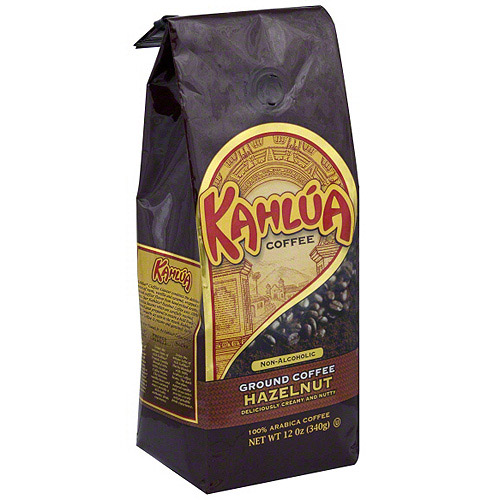 Kahlua Hazelnut Ground Coffee, 12 oz (Pack of 6)