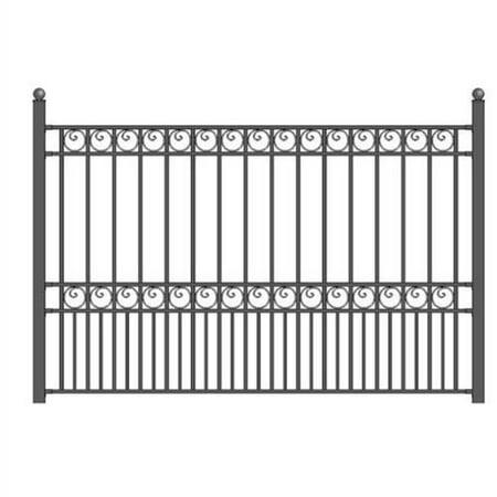 ALEKO DIY Steel Iron Wrought High Quality Ornamental Fence - Paris Style - 5.5 x 5 Ft