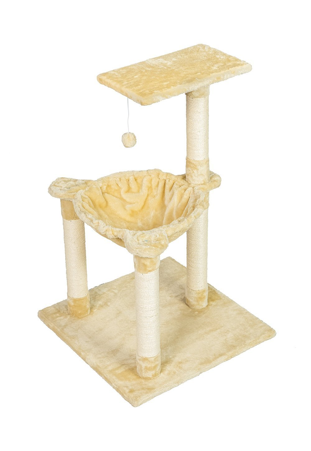 Buy-Hive Cat Tree Bed Condo Scratching Post Kitty Play House Activity Lounge Hammock by