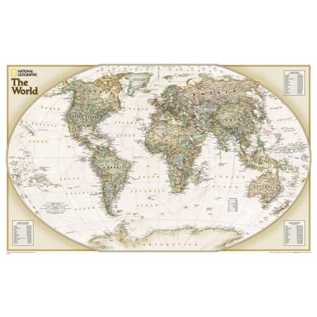 - National Geographic - World Explorer Executive Map Laminate... Laminated