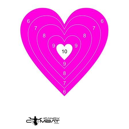 Heart hot pink bullseye paper target pistol hand gun rifle targets heart hot pink bullseye paper target pistol hand gun rifle targets thecheapjerseys Choice Image