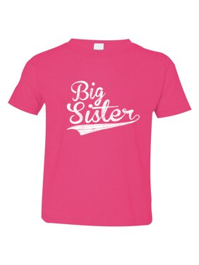 Texas Tees Brand: Gift for Big Sister, Big Sister in Baseball Script, Includes size 12-18 Month