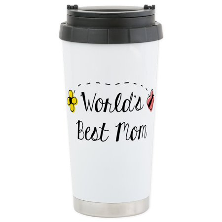 CafePress - World's Best Mom - Stainless Steel Travel Mug, Insulated 16 oz. Coffee (Best Insulated Coffee Tumbler)