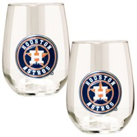 Houston Astros Stemless Wine Glass Set - No Size