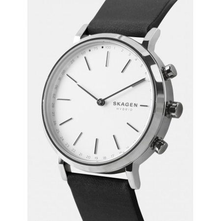 Skagen Women S Hald Hybrid Smartwatch Black Leather Skt1205