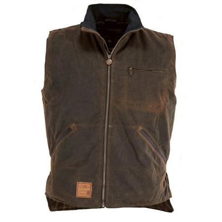 Outback Trading Vest Mens Tough Sawbuck Oilskin Hunting Zipper 2143 Outback Canvas Vest