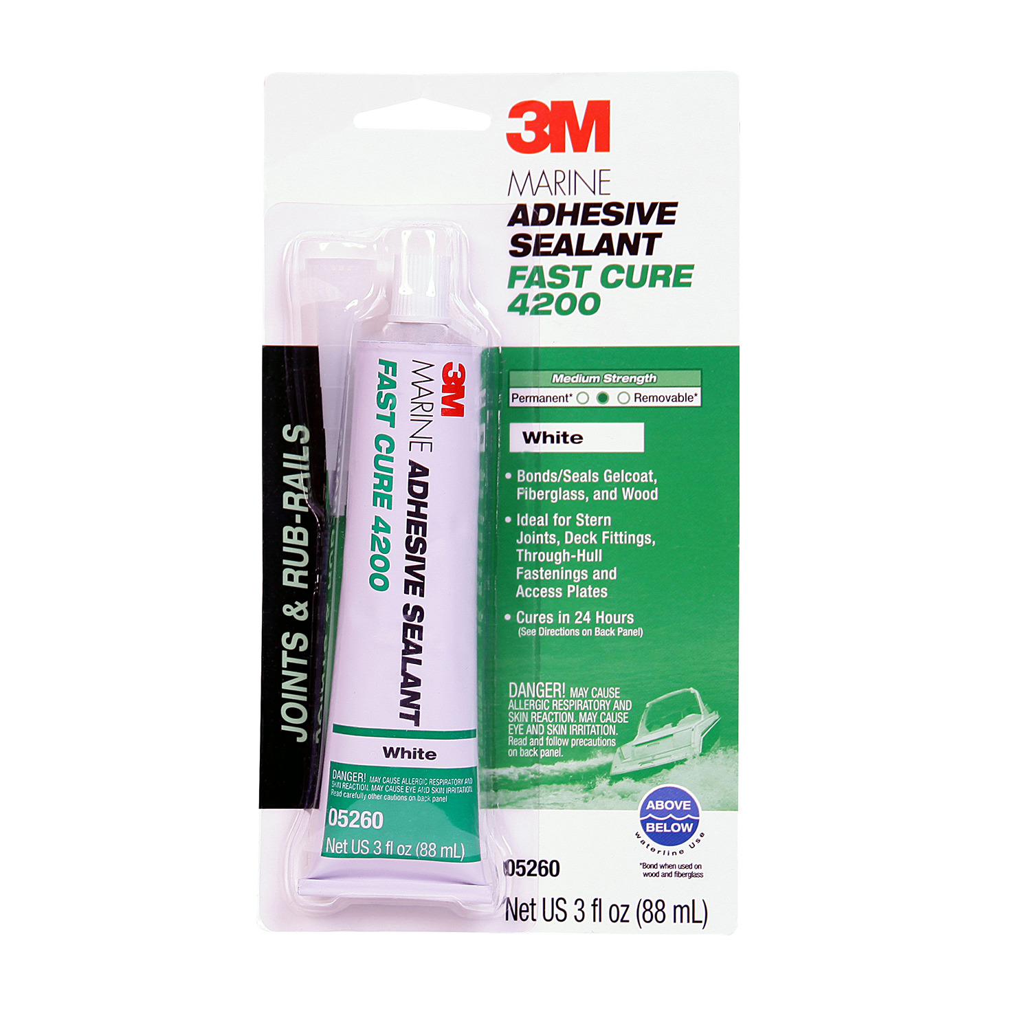 3M COMPANY 05260 3OZ White Marine Sealant