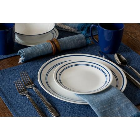 Corelle Livingware Classic Cafe Blue Dinnerware Set, 16 Piece