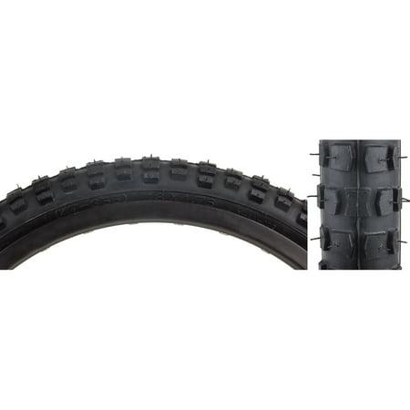 Sunlite Tire 18X1.75 Black/Black BMX K44 16' Black Bmx Bicycle Tire