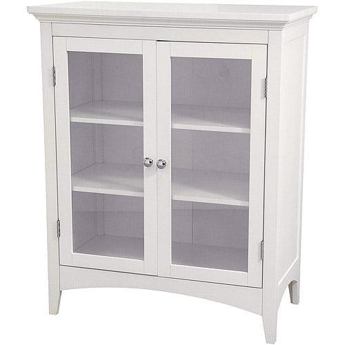 Classy Collection Double Door Floor Cabinet, White