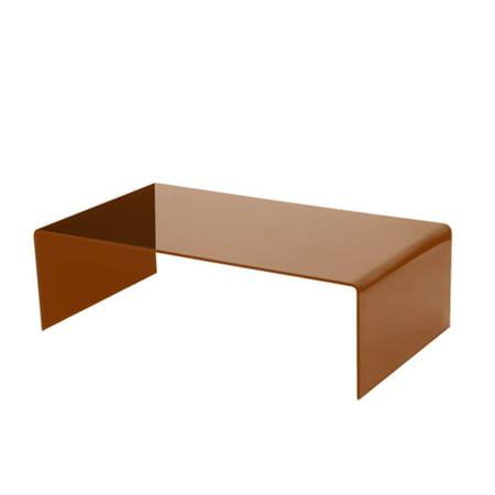 Bronze Bent Glass Coffee Table, 3/8